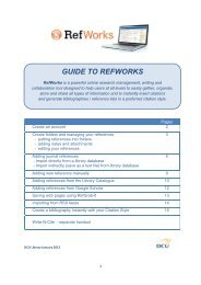 GUIDE TO REFWORKS - DCU