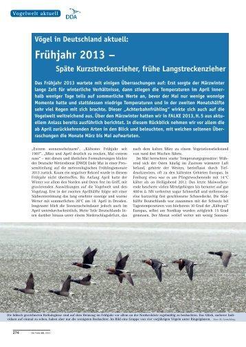 als PDF - Dachverband Deutscher Avifaunisten