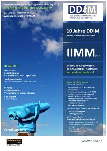 Programm zum IIMM 2013 - DDIM