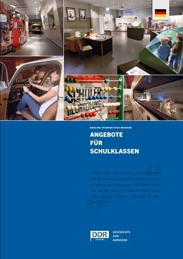 angeBote für schulklassen - DDR Museum