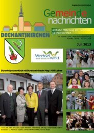 Juli 2013 - Gemeinde Dechantskirchen