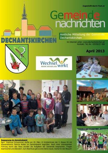 April 2013 - Gemeinde Dechantskirchen