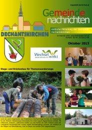 Oktober 2013 - Gemeinde Dechantskirchen