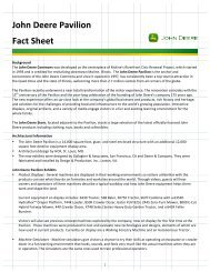 John Deere Pavilion Fact Sheet