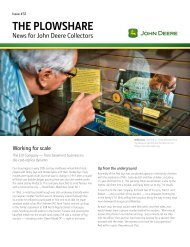 THE PLOWSHARE - John Deere