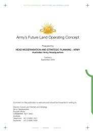 Army's Future Land Operating Concept - Department of Defence