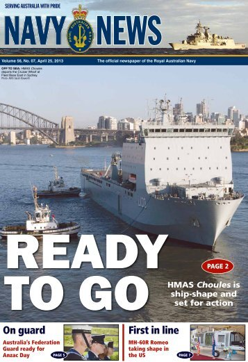 Edition 5607, April 25, 2013 - Department of Defence