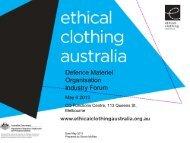 Mr Simon McRae - Ethical Clothing Australia - Department of Defence