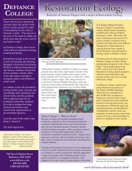 Restoration Ecology - Defiance College