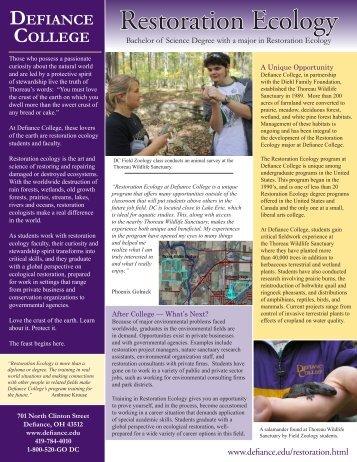 Restoration Ecology - Defiance College