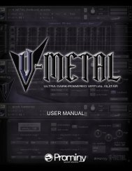 V-METAL USER MANUAL - Prominy