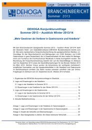 Sommer 2013 - DEHOGA Bundesverband