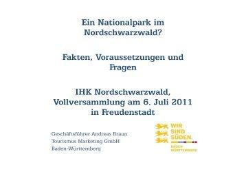 Ein Nationalpark im Nordschwarzwald? Fakten, Voraussetzungen ...