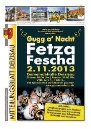 Gemeindemitteilungsblatt vom 31.10.2013 - Gemeinde Deizisau