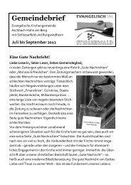 Gemeindebrief Juli-September 2013 - Dekanat Bamberg
