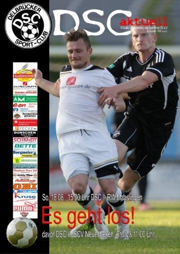DSC Aktuell Nr.: 0163 / Ausgabe: 11.08.2013 - Delbrücker SC