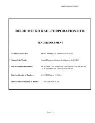 NOTICE INVITING TENDER - Delhi Metro Rail Corporation