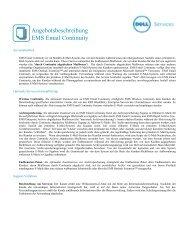 Angebotsbeschreibung EMS Email Continuity - Dell
