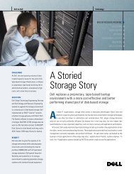 A Storied Storage Story - Dell