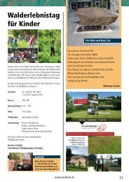 Walderlebnistag für Kinder - Gemeinde Dellach