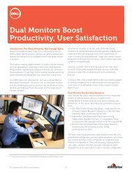 Dual Monitors Boost Productivity, User Satisfaction - Dell