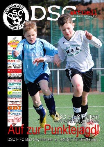 DSC Aktuell Nr.: 0161 / Ausgabe: 05.05.2013 - Delbrücker SC
