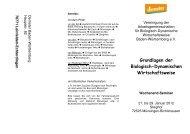 Grundlagen der Biologisch-Dynamischen Wirtschaftsweise - Demeter