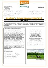 Beraterrundbrief Landwirtschaft Mai 2013 - Demeter
