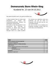 Rundbrief Nr. 23 vom 04.10.2012 - Demenz-Servicezentrum Region ...