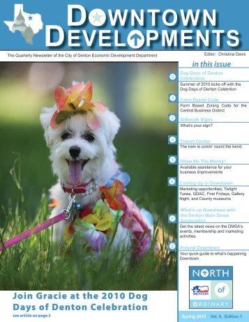Spring 2010 - Denton Economic Development