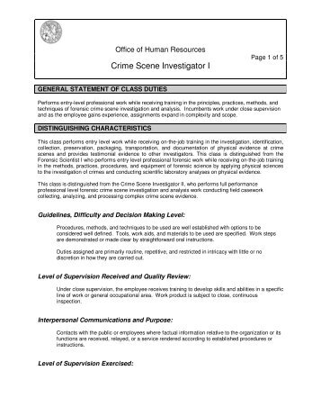 Chapter 2 Crime Scene Investigation and Evidence ... - thatscienceguy