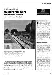 Muster ohne Wert: Musterstrecke Rostock - Wismar - derFahrgast
