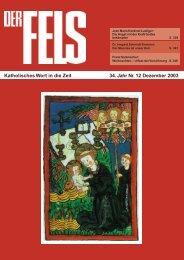 Dezember 2003 - Der Fels