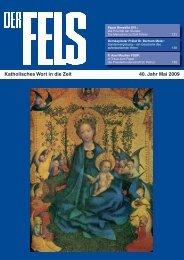 Katholisches Wort in die Zeit 40. Jahr Mai 2009 - Der Fels
