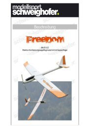 Bauanleitung Freedom - Modellsport Schweighofer