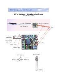 LiPo-Warner – Kurzbeschreibung