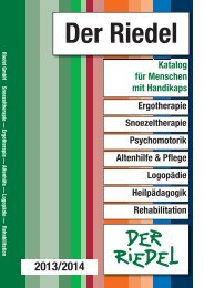 Teil 5 Haptik/Wahrnehmung/Logopädie als pdf - Riedel GmbH