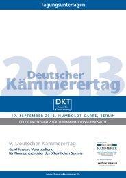 9. Deutscher Kämmerertag - Der Neue Kämmerer