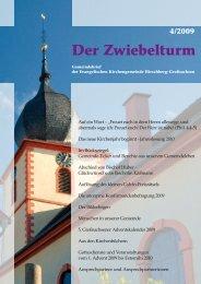 Ausgabe 4-2009 - Evangelische Kirchengemeinde Hirschberg ...