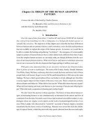 Chapter 24. ORIGIN OF THE HUMAN ADAPTIVE PATTERN