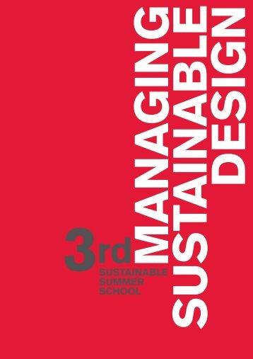3SUSTAINABLE SUMMER SCHOOL - Designtheorie.uni-wuppertal.de