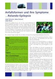 Anfallsformen und ihre Symptome ...Rolando-Epilepsie - Desitin