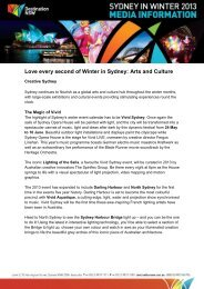 Arts and culture - Destination NSW