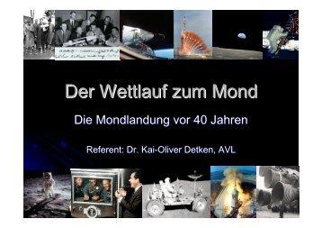 Der Wettlauf zum Mond: die Mondlandung vor 40 Jahren - detken.net