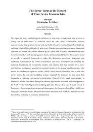 The Error Term in the History of Time Series Econometrics - CiteSeerX