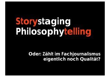 Nutzwert und Storytelling - Deutsche Fachpresse