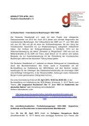 April 2013 - Deutsche Gesellschaft eV