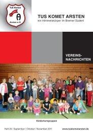 Heft Nr. 20 vom September 2011  - TuS Komet Arsten