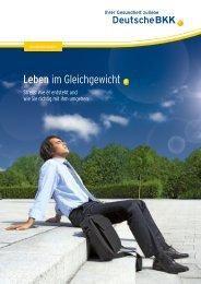 Stress - Leben im Gleichgewicht (PDF, 1.3 MB) - Deutsche BKK