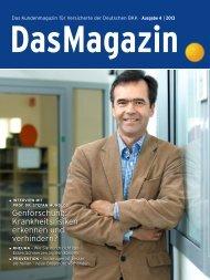 Das Magazin 4|2013 (PDF, 3.8 MB) - Deutsche BKK